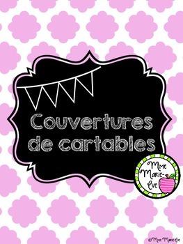 Couvertures de cartables gratuites - Free Quatrefoil Binde