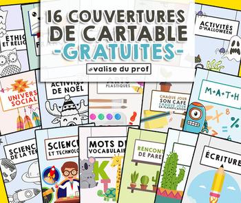 Couvertures de cartables gratuites - free cover binder