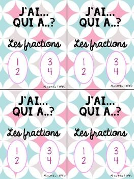 Couvertures jeu J'ai... Qui a..? les fractions