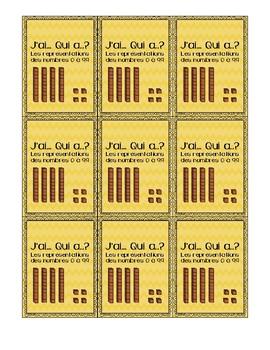 Couvertures jeu J'ai... Qui a..? les représentations des nombres 0 à 99