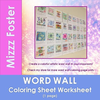 Covalent Bond Word Wall Coloring Sheet