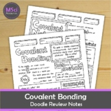 Covalent Bonding Doodle Sheets Visual Guided Notes Chemistry