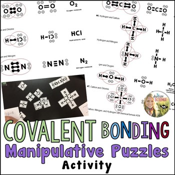 Covalent Bonding Manipulative Puzzle Activity