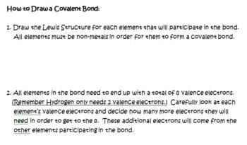 Covalent Bonds