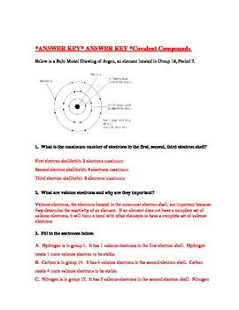 Covalent Compound Worksheet