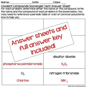 Covalent Compound Practice Activity