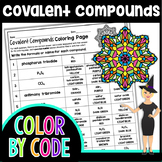 Covalent Compound Formulas Science Color By Number or Quiz