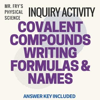 Covalent Compounds Formulas and Names