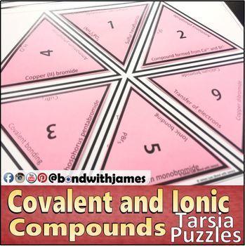 Covalent Compounds and Ionic Compounds Tarsia Puzzles (Mixed Bundle)