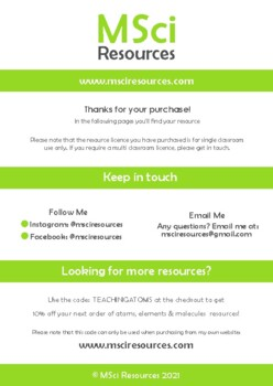 Covalent Radius Middle and High School Chemistry Doodle Notes