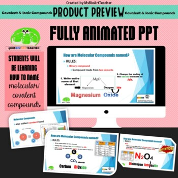 Covalent and Ionic Compounds PPT & Review Game