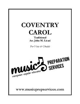 Coventry Carol (Ukulele chords, tablature, and voice)