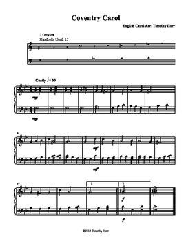 Coventry Carol for Tone Chimes/ Choir Chimes