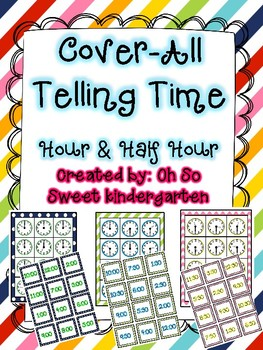 Cover-All Telling Time Hour and Half Hour