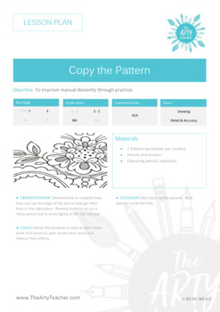 Cover / Art Sub Plan Lesson - Copy the Pattern