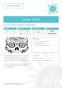 Cover / Art Sub Plan Lesson - Day of the Dead Sugar Skulls