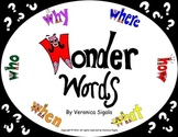 Close Reading using the wonder words: Who What When Where Why and How