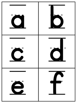 Cover, Copy, Compare Letter Formation
