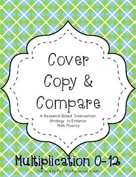 Cover, Copy, Compare-Single Digit Multiplication