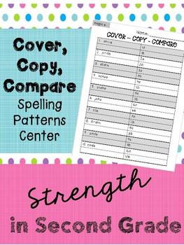 Cover, Copy, Compare Spelling Center