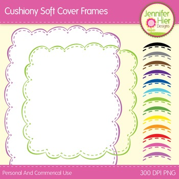 Cover Frame Bundle #1: Square and Rectangle Clip Art Frames in Multiple Colors