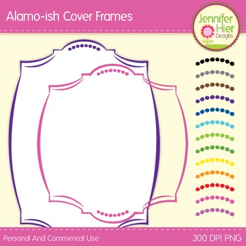 Cover Frames: Square and Rectangle Alamo-ish Style Clip Ar