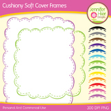 Cover Frames: Square and Rectangle Cushiony Soft Clip Art