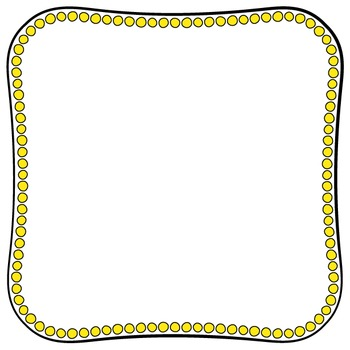 Cover Frames: Square and Rectangle Do-a-Dot Clip Art Frames in 14 Colors