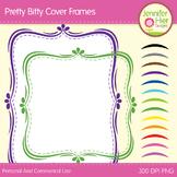 Cover Frames: Square and Rectangle Pretty Bitty Clip Art F