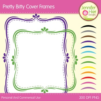 Cover Frames: Square and Rectangle Pretty Bitty Clip Art F