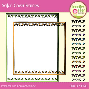 Cover Frames: Square and Rectangle Safari Style Art Frames