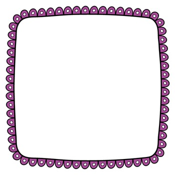 Cover Frames: Square and Rectangle Wacky Scallop Style Art Frames in 14 Colors