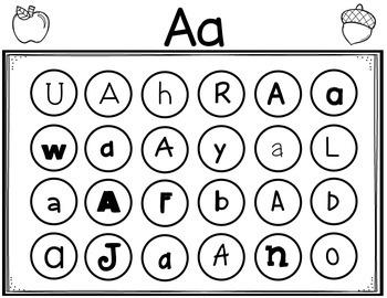 Cover It Up Alphabet Letter Recognition