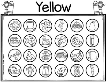 Small Groups Color Identification Worksheets