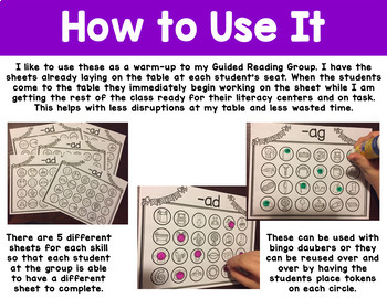Word Families Activities Short A Worksheets