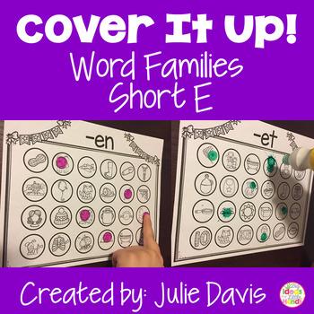 Word Families Activities Short E Worksheets