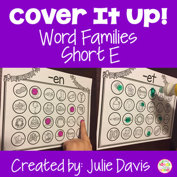 Cover It Up Word Families Short E