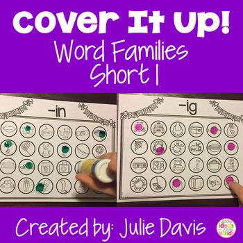 Word Families Activities Short I Worksheets