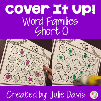 Cover It Up Word Families Short O