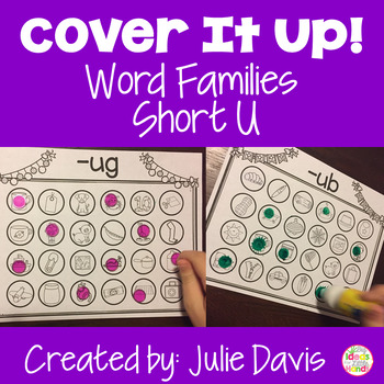 Word Families Activities Short U Worksheets
