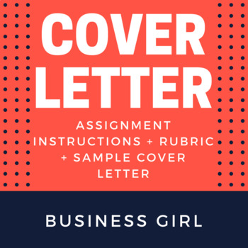 Cover Letter Assignment for High School Career Unit