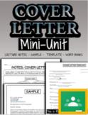 Cover Letter Mini-Unit - Special Education High School (Print/Google)