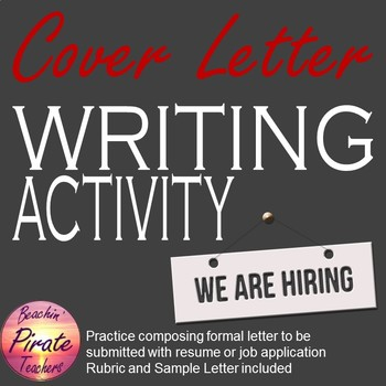 Cover Letter for Resume Activity