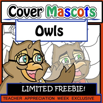 FLASH FREEBIE Owls (4 pc. Clip Art!) Detailed and Designed for COVERS!