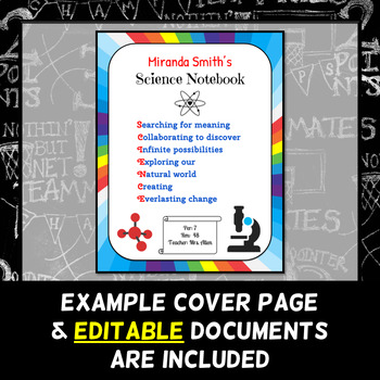 Cover Page Assignment - Science Interactive Notebook