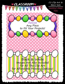 Cover Page Kit (April) - Easter Clip Art - CU Clip Art, B&W & 8.5x11 Papers