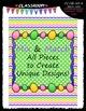 Cover Page Kit (April) - Easter Clip Art - CU Clip Art, B&