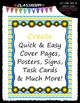 Cover Page Kit (August) - Sun Clip Art - CU Clip Art, B&W & 8.5x11 Papers