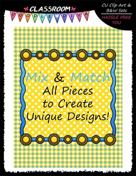 Cover Page Kit (August) - Sun Clip Art - CU Clip Art, B&W & 8.5x11 Papers