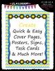 Cover Page Kit (August) - Sun Clip Art - CU Clip Art, B&W